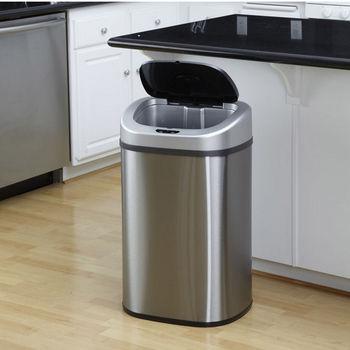 Nine Stars 21.1 Gallon Motion Sensor Trash Can Stainless Steel