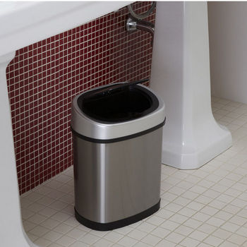 3.2 Gallon Stainless Steel Infrared Trash Can
