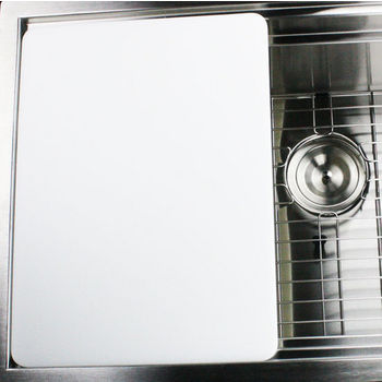 """Nantucket Sinks Premium Kitchen Collection Plastic Rectangle Cutting Board in White, 17-3/4"""" W x 11-3/4"""" D x 1/2"""" H"""