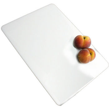 "Nantucket Sinks Premium Kitchen Collection Plastic Rectangle Cutting Board in White, 17-3/4"" W x 11-3/4"" D x 1/2"" H"