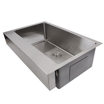 "Nantucket Sinks Pro Series Collection Patented Design 30"" Stainless Steel Front Apron Kitchen Sink in Brushed Satin Stainless Steel, 30"" W x 21-1/4"" D x 10"" H"