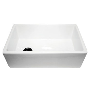 Nantucket Sinks Fireclay Farmer Sink with Grid White Finish