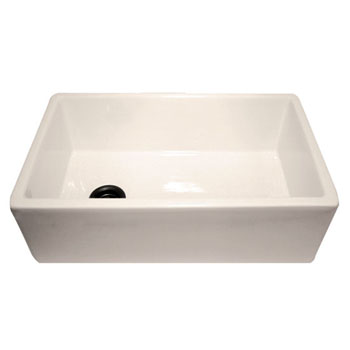 Nantucket Sinks Fireclay Farmer Sink with Grid Biscuit Finish
