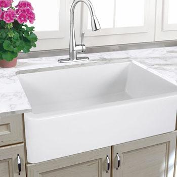 """Nantucket Sinks Cape Collection 33"""" Italian Farmhouse Fireclay Sink in Porcelain Enamel Glaze White, 32-3/4"""" W x 18-3/4"""" D x 10"""" H"""