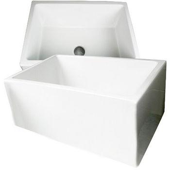 Nantucket Sinks Hyannis White Fireclay Sink in Single