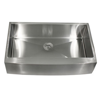 Nantucket Sinks 16-Gauge 304 Stainless Steel Zero Radius Apron Sink
