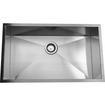Nantucket Sinks 16-Gauge 304 Stainless Steel Zero Radius Sink