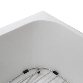 White Corner Close Up View