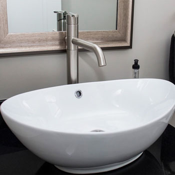 Saddle Style Vessel Sink
