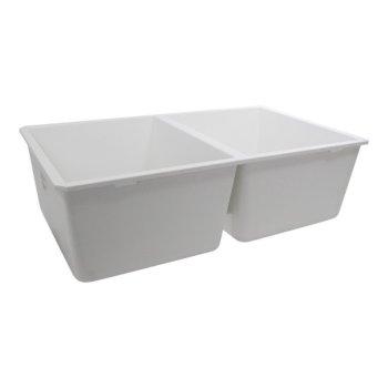 50/50 Double Bowl White