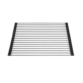 "Nantucket Sinks Premium Kitchen Collection Stainless Steel Roll Up Kitchen Mat in Stainless Steel, 12"" W x 18"" D x 1/4"" H"