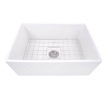 """27"""" Fireclay Sink White Overhead View"""