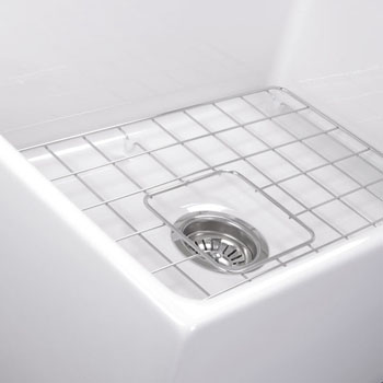 """27"""" Fireclay Sink White Close Up View"""