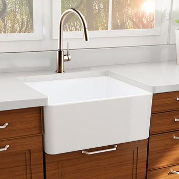 """Nantucket Sinks Cape Collection 27"""" Farmhouse Fireclay Sink with Bottom Grid and Stainless Steel Drain in Porcelain Enamel Glaze White, 27"""" W x 19"""" D x 10"""" H"""