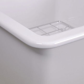 """Cape Collection 18""""W Dualmount Square Fireclay Kitchen Sink"""