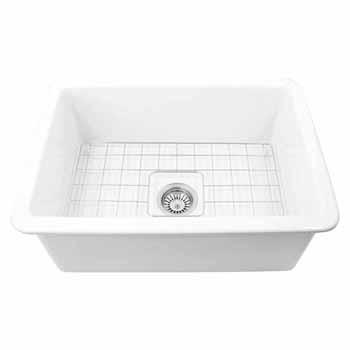 Nantucket Sinks Cape Collection 27''W Dualmount Rectangular Fireclay Kitchen Sink