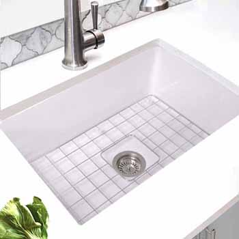 Nantucket Sinks Cape Collection 27 W And 32 W Eco Friendly Rectangular Fireclay Kitchen Sinks W Bottom Grid Drain White Porcelain Enamel Glaze Finish Kitchensource Com