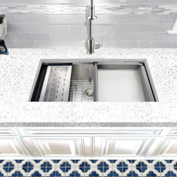 """Nantucket Sinks Pro Series Collection 36"""" Large Prep Station Single Bowl Undermount Stainless Steel Kitchen Sink with Compatible Accessories, 36"""" W x 20"""" D x 10"""" H"""