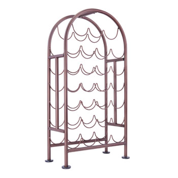 Old Dutch 27 Bottle Metal Wine Rack in Oiled Bronze Finish