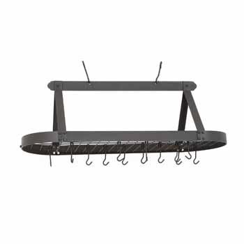 Oval Pot Racks w/ Grid & 24 Hooks