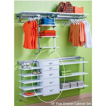"""pegRAIL 18"""" Five Drawer Cabinet Set"""