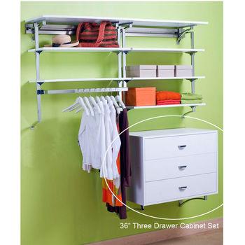 "pegRAIL 36"" Three Drawer Cabinet Set"