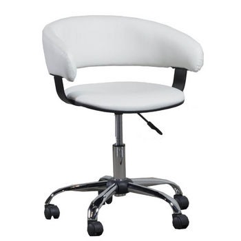 White Gas Lift Desk Chair