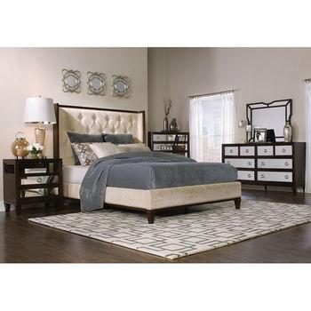 Regent King Bed w/ Head, Footboard & Rails