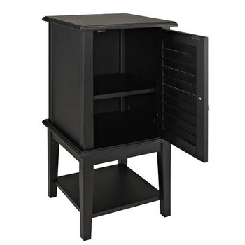 Black Shutter Door Table