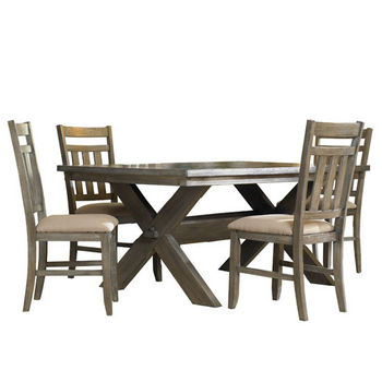 5-Pc. Turino Dining Set - (1) 457-417 Dining Table & (4) 457-434 Side Chairs