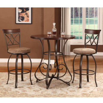 3-Pc. Hamilton Pub Set - (1) 697-404 Pub Table & (2) 697-481 Swivel Bar Stools