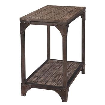 Powell Benjamin Chair Side Table In Neutral Natural , 14u0027u0027W X 24u0027u0027D X 24u0027u0027H