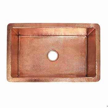 30'' Polished Copper - Top View
