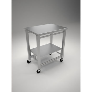 """Oasis 304 Gauge Stainless Steel Flip and Fold Kitchen Island, 32""""W x 22""""D x 36""""H"""