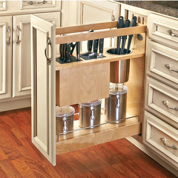 8 inch kitchen cabinet knife and utensil base organizer by rev a shelf 3947