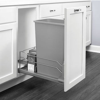 page 23 trash cans free standing built in under cabinet pull out garbage cans for your. Black Bedroom Furniture Sets. Home Design Ideas