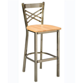 Regal - Italian Wood/Metal Bar Stool