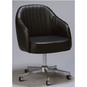 Superieur Regal Metal Swivel Bucket Chair With Black Frame U0026 Upholstered  Seat/Back/Arms