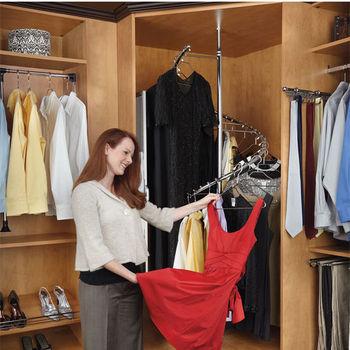Rev-A-Shelf 360° Spiral Clothes Rack, Chrome
