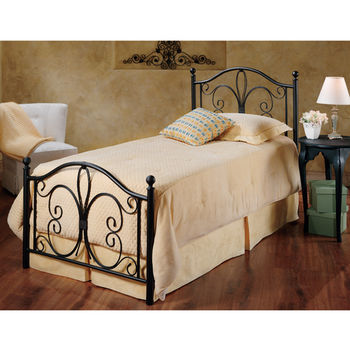 Hillsdale Furniture Milwaukee Collection Twin Bed Set with Rails in Antique Brown (Set Includes: Headboard, Footboard and Rails)