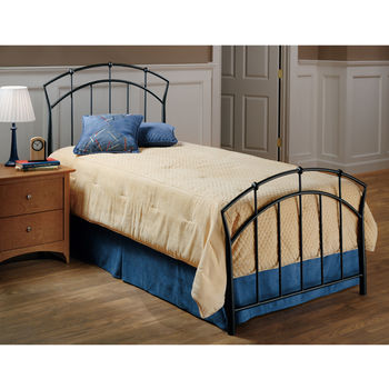 Hillsdale Furniture Vancouver Collection Twin Bed Set with Rails in Antique Brown (Set Includes: Headboard, Footboard and Rails)