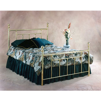 Hillsdale Furniture Chelsea Collection Full Bed Set with Rails in Classic Brass (Set Includes: Headboard, Footboard and Rails)