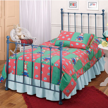 Hillsdale Furniture Molly Twin Bed Set in Blue (Includes Headboard, Footboard & Rails), 39-1/2''W x 72''D x 48-1/2''H