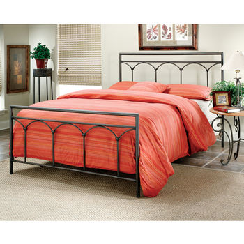 Hillsdale Furniture McKenzie Collection King Bed Set with Rails in Brown Steel (Set Includes: Headboard, Footboard and Rails)