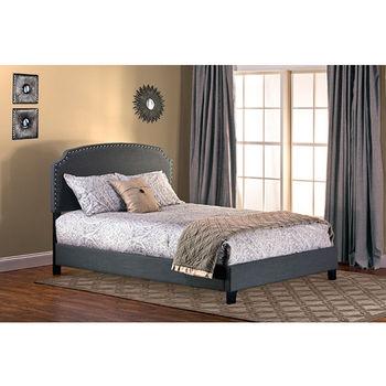 Dark Gray Linen Bed Set