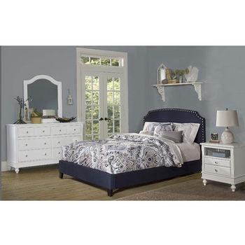 Navy Linen Bed Set