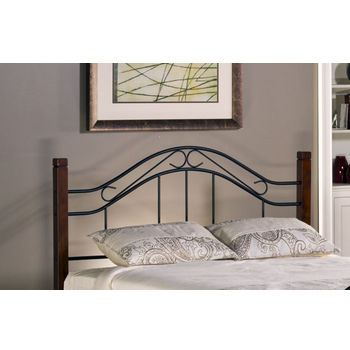 Matson King Headboard w/ Rails, Cherry / Black