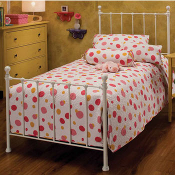 Hillsdale Furniture Molly Twin Bed Set in White (Includes Headboard, Footboard & Rails), 54''W x 72''D x 48-1/2''H