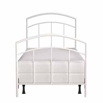 Hillsdale Furniture Julien Twin Metal Bed Set, Textured White (Includes Headboard, Footboard and Bed Frame)
