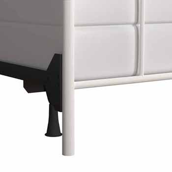 "Hillsdale Furniture Julien King Metal Headboard and Frame, Textured White, 76""W x 72-1/2""D x 46""H"
